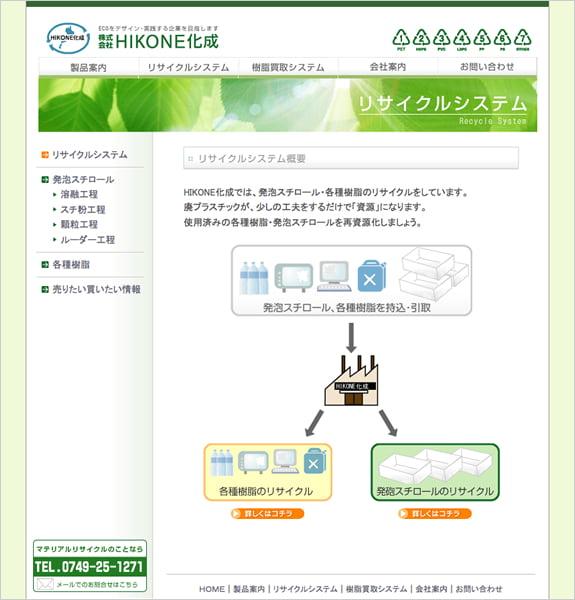 株式会社HIKONE化成 下層ページ